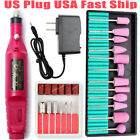Electric Nail Drill File Acrylic Art File Manicure Pedicure Portable Machine Kit