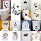Durable Bathroom Toilet Decoration Seat Art Wall Stickers Decal Home Deco Je