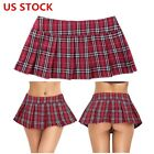US# Women Pleated Mini Skirt School Girl Cosplay Uniform Costume Tennis Clubwear