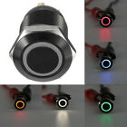 4Pin 12V 12mm Angel Eye LED Light Metal Push Button Momentary Switch Accessory