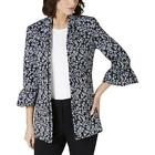 Nine West Womens Ruffled Open Front Business Jacket Blazer BHFO 9384 <br/> Guaranteed Authentic  Nine West Sugg. Price:  $139.00