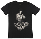 Bruce Lee DJ T-Shirt Black Mens Vintage Martial Arts Hero Tee image