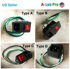 Wired assembled Power Socket with Fuse Switch 3 Pin IEC320 C14 USA PLug