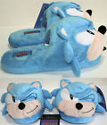 Sonic Wink Plush Slippers Blue Hedgehog Licensed Soft Adult House Shoes S-L NWT