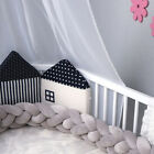 Baby Cot Bedding Bumper Infant Crib Woven Thick Plush Protection Pad Pillow