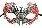 Masquerade Laser Cut Metal Eye Mask with Glitter Halloween Party Cosplay