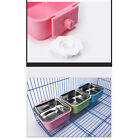 Plastic Casing Pet Bowl Feeder Bowls Cage Removable Water Durable Dog Feeding SH