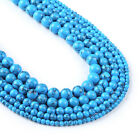 """Synthetic Blue Turquoises With Black Line Beads For Bracelet 15"""" Full Strand"""