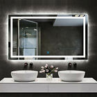 Large Size Bathroom Mirror Led Light Anti Mist Wall Lighted Mirror With Demister