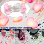 1.5m-4m Led String Lights Heart Shaped Led Fairy Light Wedding Party Home Decor