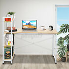 Workstation Computer Desk Table Storage Student Study Bookshelf Home Office Case