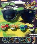 NINJA TURTLES 100 UV Shatter Resistant Sunglasses w/ Slide-On Character Stickers