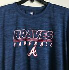 New $32 Atlanta Braves Men's T-shirt Polyester Tee Shirt Blue Size 3XL Big