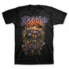 Splatter Head Exodus Band Reprint Cotton Black Men S-4XL T-shirt T1557 image