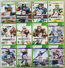 Madden Xbox 360 Microsoft Games NCAA Football Video Game Lot Tested Choose