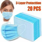 20 pcs / Pack Three-Layer Filter Disposable Half Face Protective Masks Cover