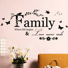 Quote Mural Words Art Vinyl Wall Sticker Home Kitchen Room Decal Decor