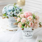 Artificial Flower Silk In Pot Bouquet Bride Wedding Party Office Home Decoration