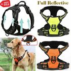 3M Full Reflective No-pulling Dog Pet Harness Pet Nylon Vest Padded Handle UK #