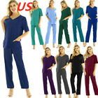 Kyпить US Medical Doctor Nursing Men Women Scrub Set Top Pants Hospital Uniform Costume на еВаy.соm
