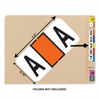 Bar Tab Labels 270 Color Coded Bar-Style Labels For File Folder End Tabs-Letters