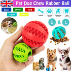 Durable Pet Dog Puppy Rubber Chew Ball Teething Dental Health Treat Cleaning Toy