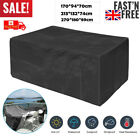 Extra Large Garden Rattan Outdoor Furniture Cover Patio Table Protection Black