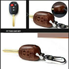 Vintage Leather Car Key Fob Case Cover Bag For TOYOTA CAMRY COROLLA 2014-2018 $18.3 USD on eBay