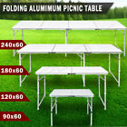 Heavy Duty Folding Table Portable Aluminium Camping Garden Party Trestle Caravan