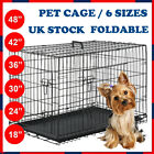 DOG CAGE PUPPY TRAINING CRATE PET CARRIER METAL - SMALL MEDIUM LARGE XL XXL UK