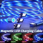 Magnetic Led Light Up Usb Phone Lightning Charging Cable For Iphone Type C Micro