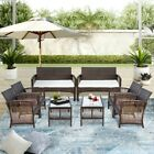 New Outdoor Rattan Garden Furniture Conservatory Sofa Patio Table Chair Set 2020