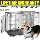 Dog Pet Cage Puppy Training Crate Carrier HEAVY DUTY WIRE | S M L XL XXL UK