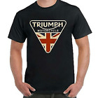 Lucky Brand Triumph Motorcycle UK T-shirt Funny Vintage Gift Men Women $11.3 USD on eBay