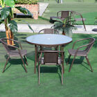 Garden Table Or Chairs Set Outdoor Furniture Seating Glass Table Parasol Hole