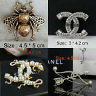 Fashion Brooch Pin Crystal Jewelry Alloy Simulated Pear