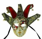 Traditional Venetian Royal Jester Mask Costume Theater Mask