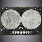 Abstract The Earth's Moon 3 PCs Canvas Printing Wall Picture Poster Home Decor