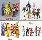 """5 Or 6 PCS Set Five Nights At Freddy's FNAF Game Action Figures Toy Gift 6"""" inch"""