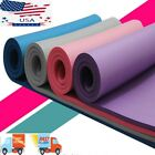 Mat Yoga Exercise Fitness Gym Workout Extra Thick Non Slip Durable Pilates Mats image