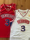 NEW Allen Iverson #3 Mens Rookie Philadelphia 76ers WHITE / RED Throwback Jersey on eBay
