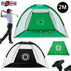 2M Foldable Golf Driving Cage Practice Hitting Net Home Garden Trainer UK