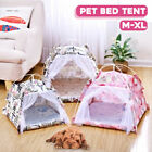 Folding Pet Dog Cat Puppy House Bed Sleep Tent Kennel Teepee Play Mat Pad New