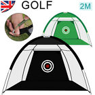 2M Golf Practice Cage Driving Net Training Aid w/ Free Bag In/Outdoor Garden UK