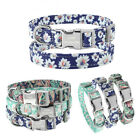 Personalized Dog Collars Name ID Collar Buckle Bohemian Floral Print Adjustable