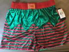 WOW! MAD Engine Santa's Elf Men's Boxers with Jingle Bells - Sizes S - M - XL