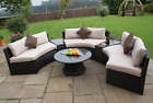Half Moon Curved Corner Sofa Set Outdoor Garden Furniture