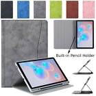 For Samsung Galaxy Tab S6 Lite 10.4 SM-P610 P615 Case Stand Cover Pencil Holder