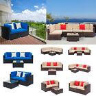 Garden Outdoor Patio Rattan Wicker Furniture Set Couch Sofa Dining Coffee Table