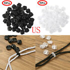 100 Cord Lock End Toggle Double Hole Spring Drawstring Rope Stopper Sliding Clip